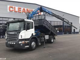 kipper vrachtwagen > 7.5 t Scania P270 Amco Veba 21 ton/meter laadkraan 2007