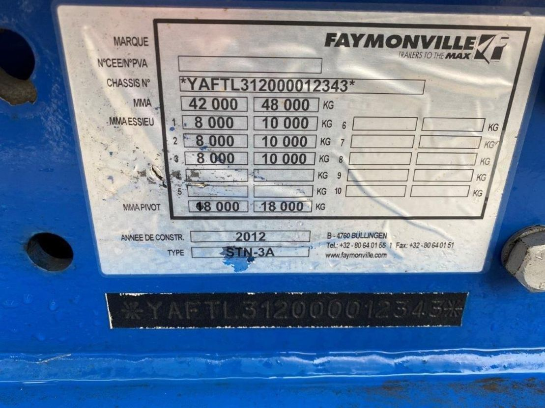 semi dieplader oplegger Faymonville STN 3A 2012