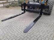 Hydraulic pallet fork frame vorkenbord to suit Volvo quick coupler