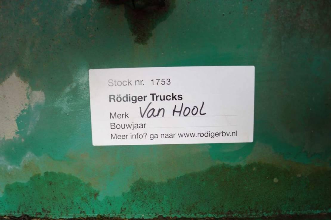 platte oplegger Van Hool 3-assige oplegger 1992
