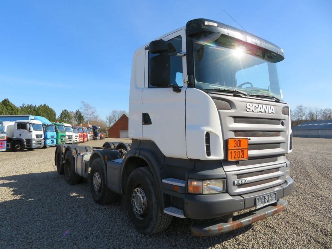 chassis cabine vrachtwagen Scania R480 8x2 ADR Chassis, Manuel Gearbox 2007