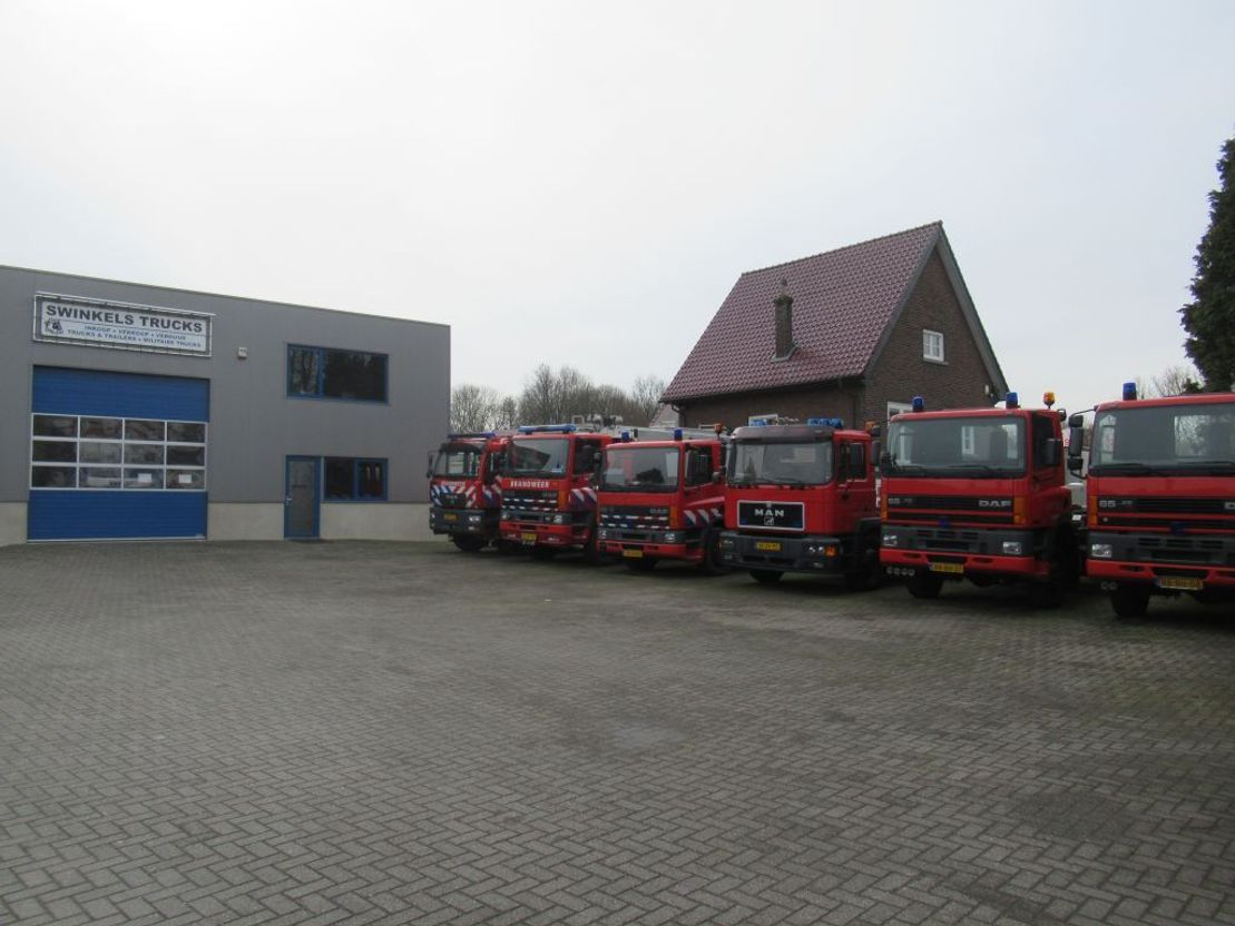 brandweerwagen vrachtwagen MAN 4x4