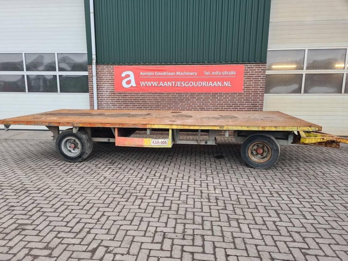 platte aanhanger vrachtwagen Diversen Materiaalwagen 12 ton