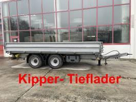 kipper vrachtwagen > 7.5 t Humbaur HTK  14 t Tandemkipper- Tieflader, 5,50 m lang-- Wenig Benutzt -- 2016