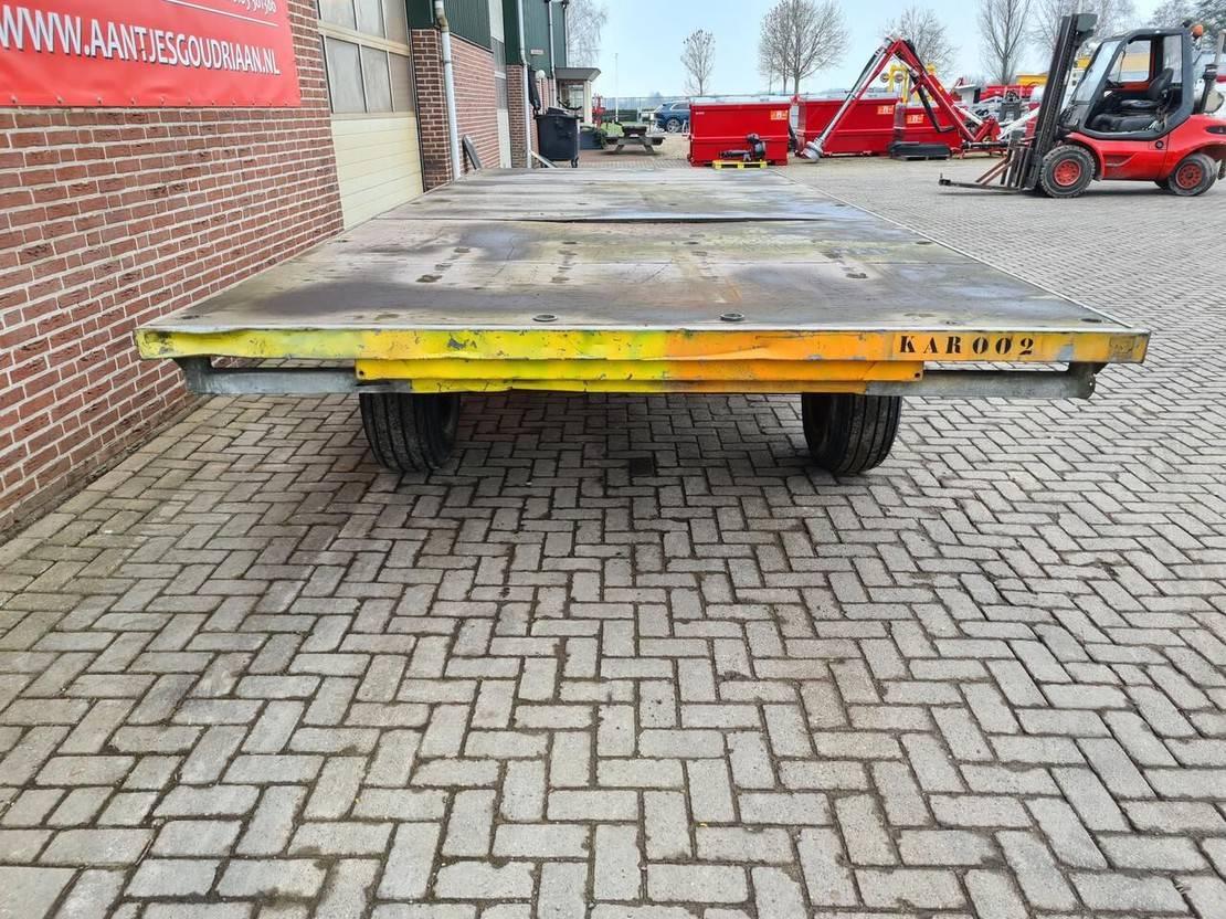 platte aanhanger vrachtwagen Diversen Materiaal/ industriewagen