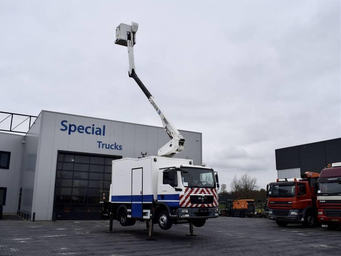 autohoogwerker vrachtwagen MAN TGL 12 + Hoogwerker Versalift VST-237-NF (14.9 Meter) 2009