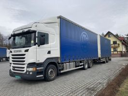 mega-volume vrachtwagen Scania R450 Highline 6x2 + trailer 2013