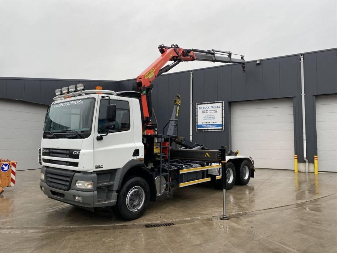 containersysteem vrachtwagen DAF CF 85.430 6X4 HAAK + PALFINGER 18002 BJ2015