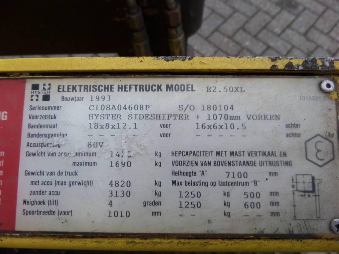 vorkheftruck Hyster E2.50XL triplo 7100 1993