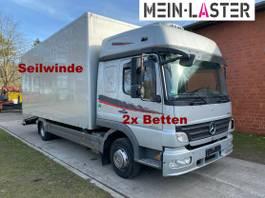 oprijwagen bedrijfswagen Mercedes-Benz 822L Bett geschlossener Koffer Techau Seilwinde 2009