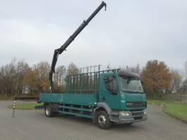 glasresteelwagen bedrijfswagen DAF 55 lf 280 euro 5 glastransporter met hiab 111 duo bj 2008 2008