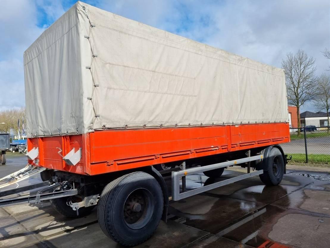 platte aanhanger vrachtwagen Schmitz Cargobull 2 as 1994