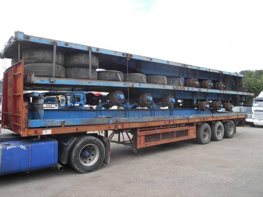 platte aanhanger vrachtwagen Diversen PACKAGE STEEL SPRING TRAILER