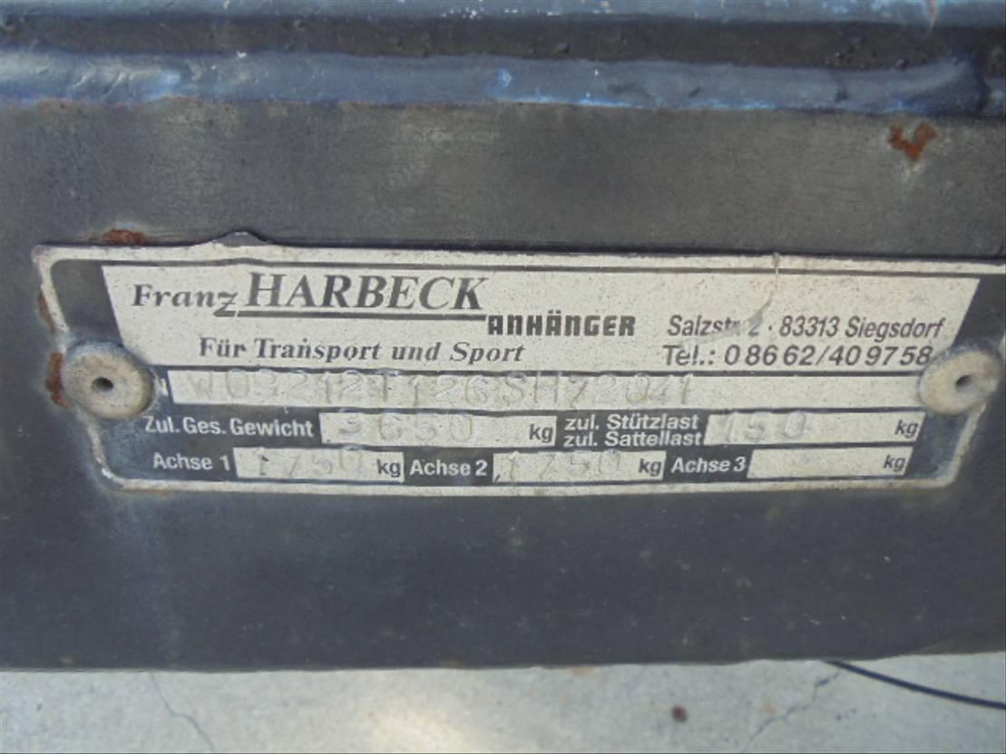 autotransporter aanhangwagen Diversen Harbeck A 3500 TAC 2006