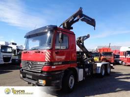 kraanwagen Mercedes-Benz Actros 2640 Containerauto + Hiab 155-3 Crane + Multilift Hook-system + 3 pedals + Lo... 2000