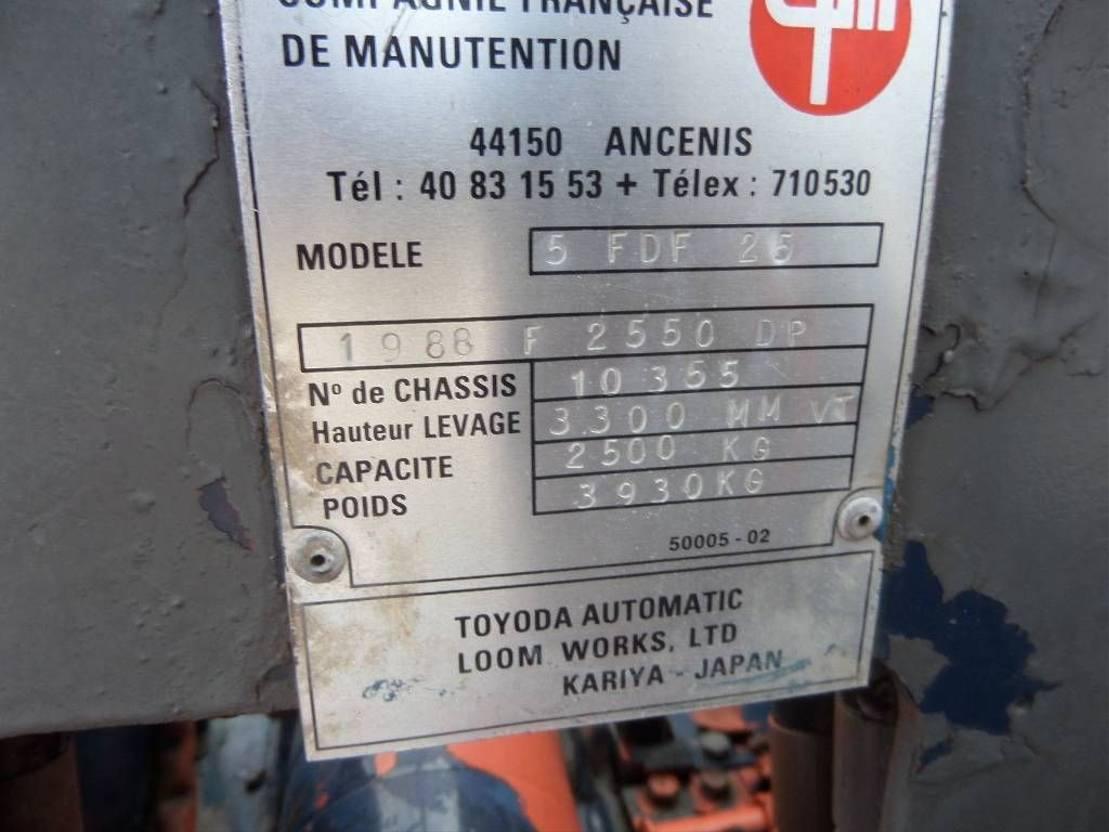vorkheftruck Toyota 5 FD F 25 1988