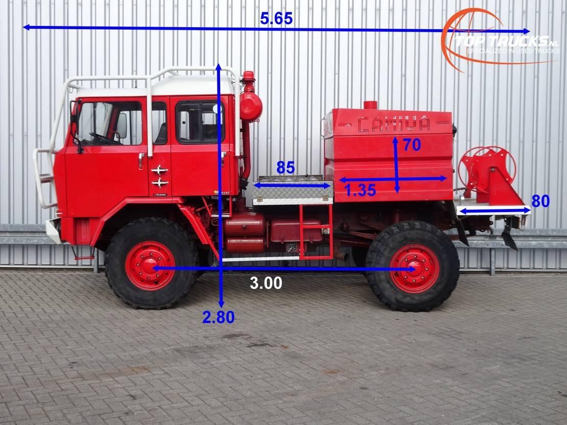 brandweerwagen vrachtwagen Iveco Unic 80.160 4x4 -Feuerwehr, Fire brigade -1.750 ltr watertank - 3,5t. Li... 1987