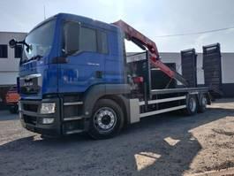 oprij vrachtwagen MAN TGS 26.320 Euro5 machinetransport + kraan HMF 1250 2011
