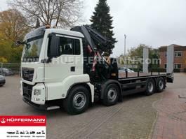 platform vrachtwagen MAN TGS 35.470 8x2 Pritsche Kran HIAB XS 322 E6 Jib 2020