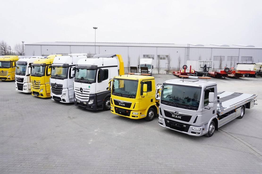 takelwagen-bergingswagen-vrachtwagen Mercedes-Benz Actros 2542 , 2545 , MAN TGX 26.460 , TGL 8.180 , TGL 12.220 2018