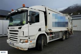 vuilniswagen vrachtwagen Scania P380 6x2 / 2 1-chamber compactor with swing on sha 2008
