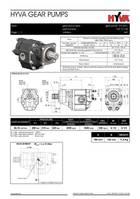 hydraulisch systeem equipment onderdeel Hyva GEAR PUMP 27L-LH-4H-TANDEM-1/2