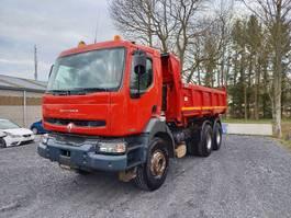 kipper vrachtwagen > 7.5 t Renault Kerax 320 6x4 bi-benne boite manuelle 2002
