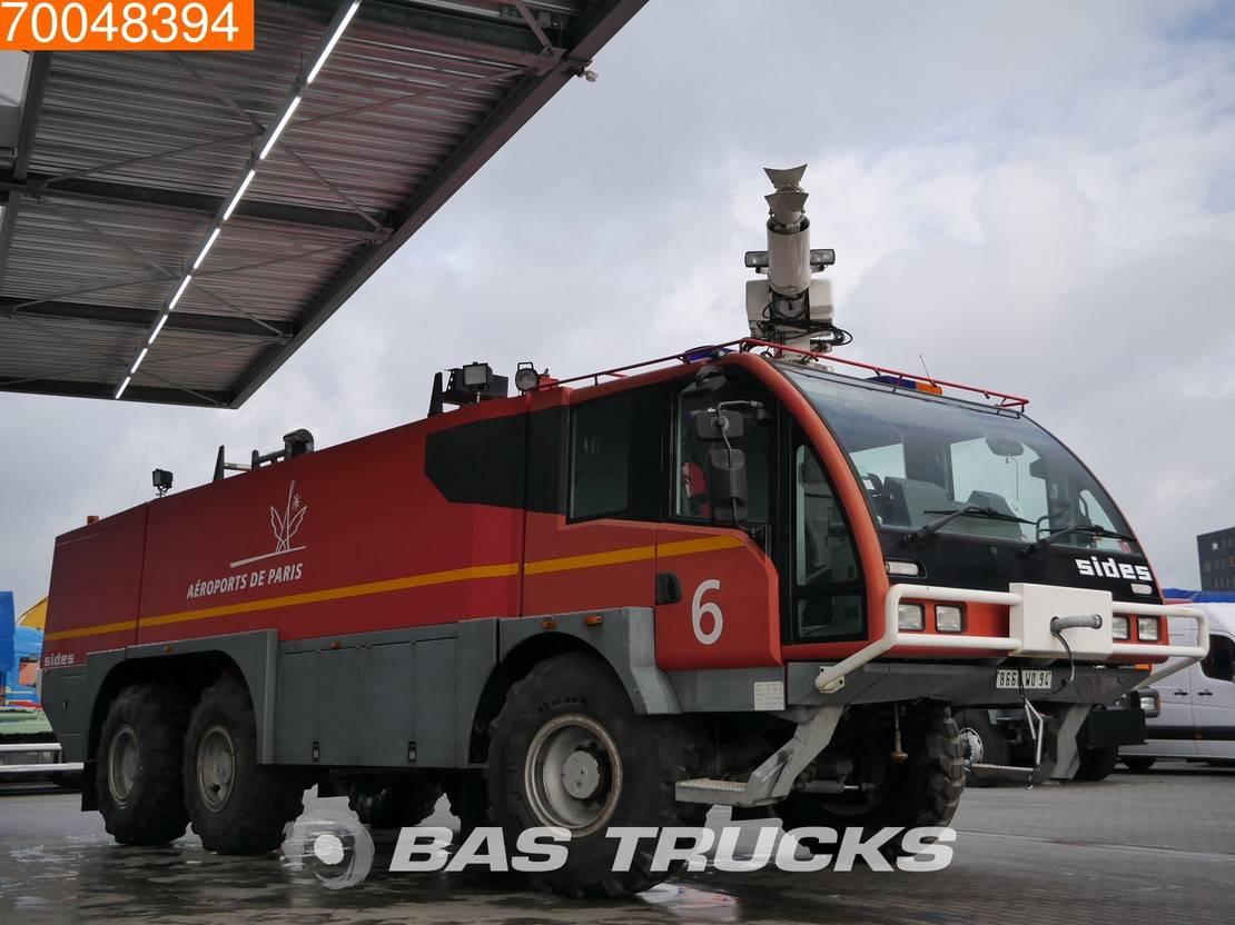 brandweerwagen vrachtwagen Mercedes-Benz 6X6 Crashtender Sides FireTruck No engine - Damage - No gearbox 2003