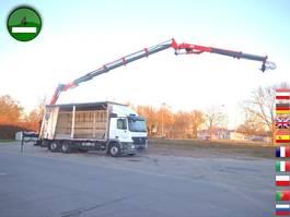 huifzeil vrachtwagen Mercedes-Benz Actros 2536 L 6x2 Tirre Kran Euro 222 19,6m Joys 2008