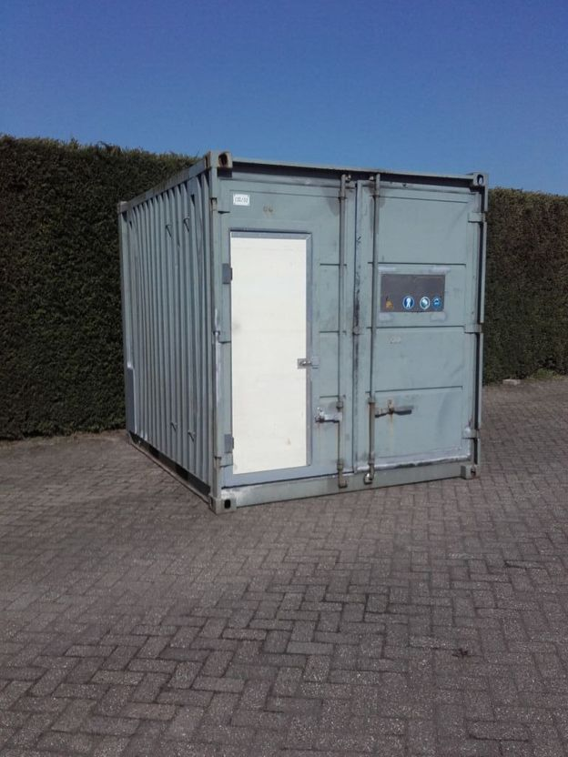 dry standaard zeecontainer Abarth 10ft container met loopdeur