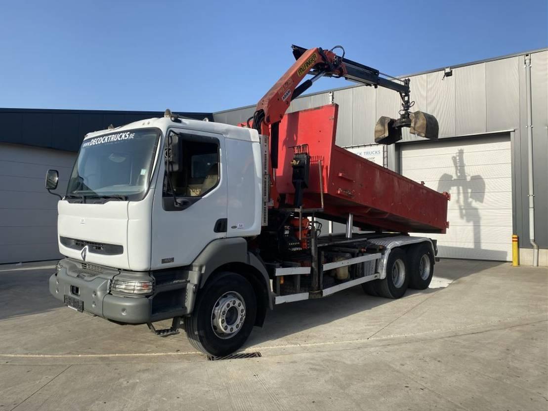 kipper vrachtwagen > 7.5 t Renault KERAX 420 6X4 KIPPER+KRAAN PK12001