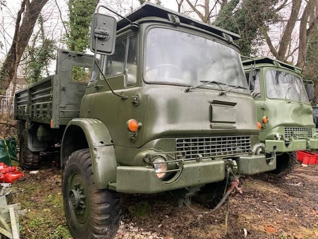 leger vrachtwagen Bedford MJ 4x4 winch truck 1989