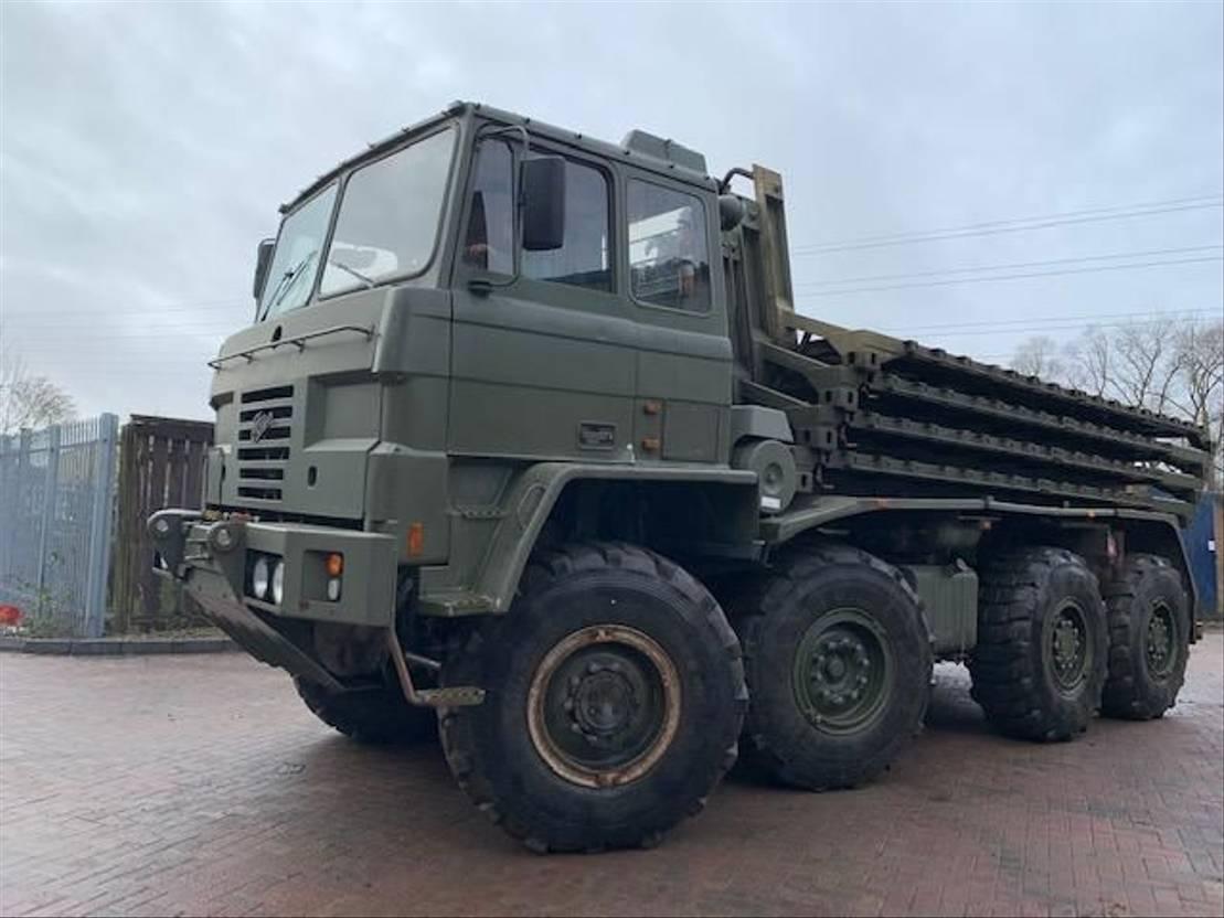 leger vrachtwagen Foden 8x6 container Transporter truck 1995