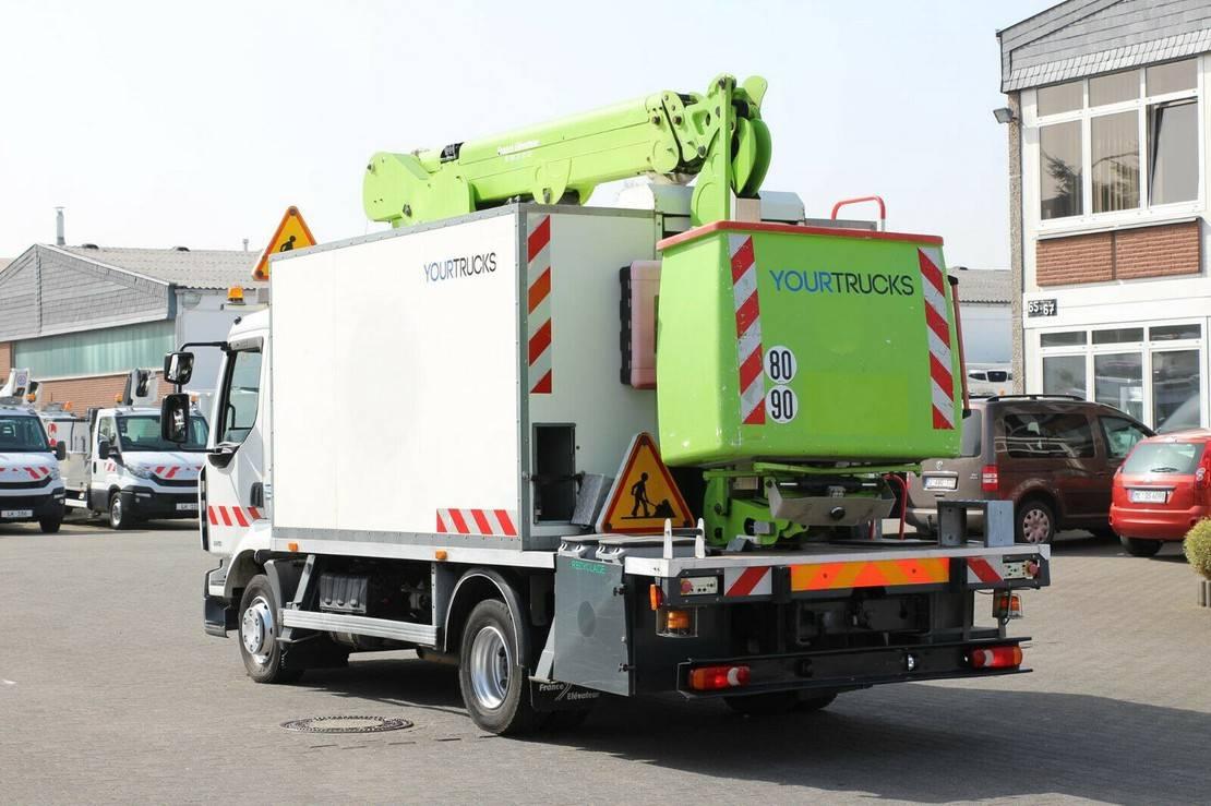 autohoogwerker vrachtwagen Renault Midlum 220 Bühne 182CPM 18m/2P.Korb 265kg/Klima 2014