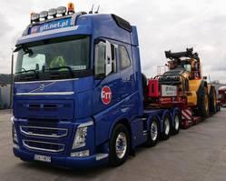 zware last trekker Volvo FH 510 8x4 80 tons 2018