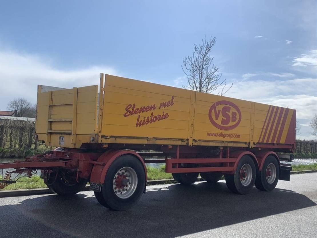 platte aanhanger vrachtwagen Floor APK nieuw Floor 3 asser  met ALU borden 1991
