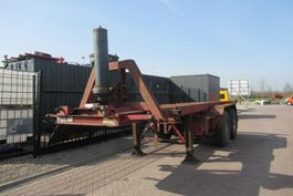 container chassis oplegger Stas 20 FT Container tipper / ROR + Drum + 1x Liftaxle 1988