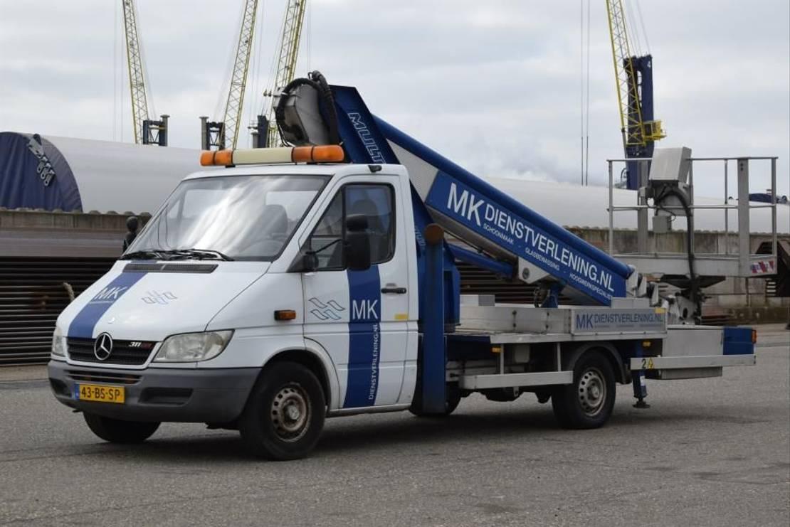 autohoogwerker vrachtwagen Mercedes-Benz Multitel 220ALU AZ 2005