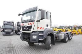 chassis cabine vrachtwagen MAN TGS 28.500, E6, 60.000km, 6X4X4, chassis 5.8m, PTO, retard 2019