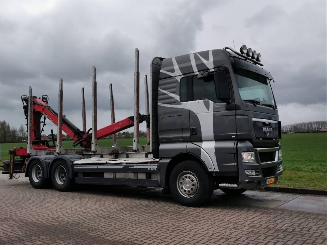 houttransporter vrachtwagen MAN TGX 26 epsilon m110l97 2012
