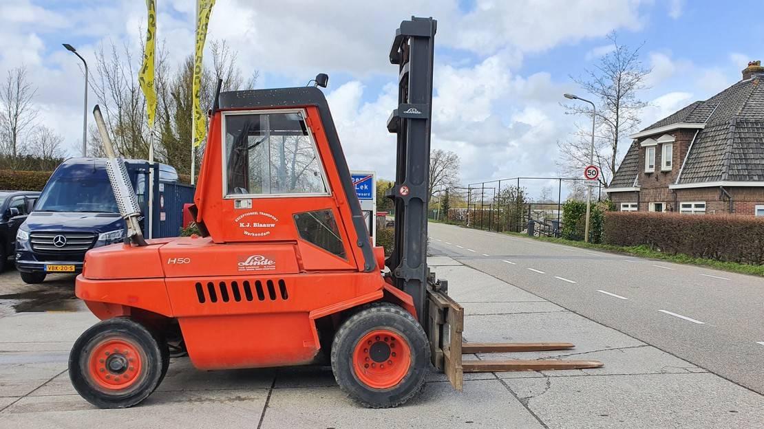 vorkheftruck Linde H50DW 5 ton diesel