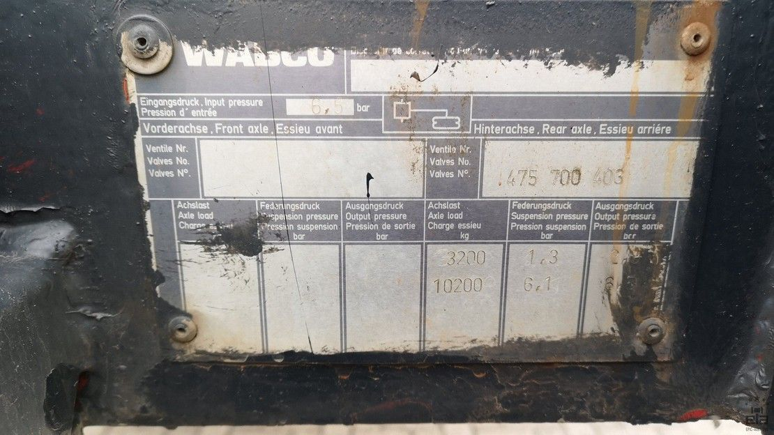 semi dieplader oplegger Broshuis 2 AO-12-16 1993