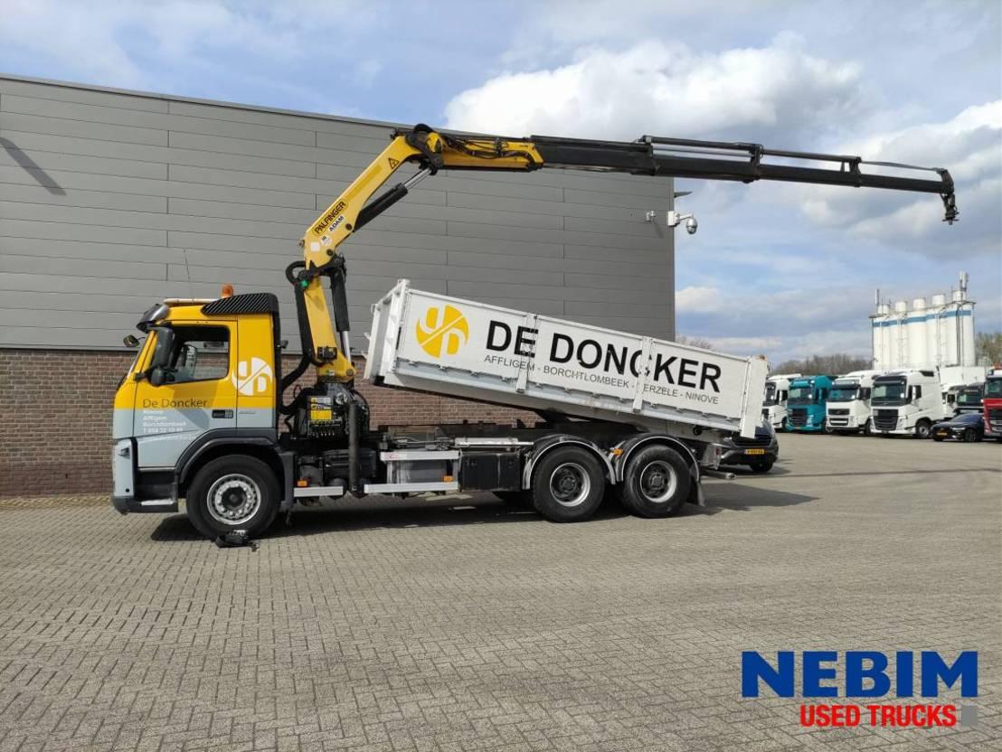 kipper vrachtwagen > 7.5 t Volvo FM 450 Euro 5 Tipper - Crane - PALFINGER PK 22002 EH C - R/C 2011