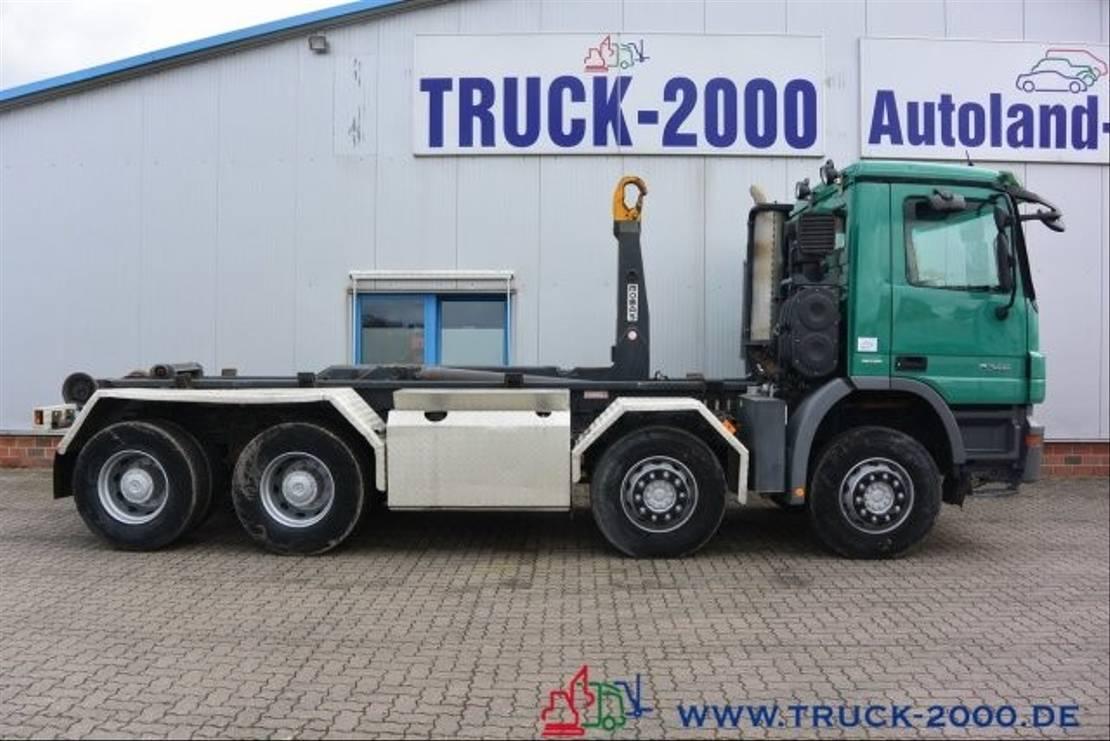 wissellaadbaksysteem vrachtwagen Mercedes-Benz Actros 3246 8x4 Knick-Schub Haken 25 t Retarder 2009