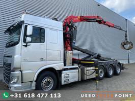 containersysteem vrachtwagen DAF XF 460 SC / 8X2 / Palfinger S260Z96 / 25T Hook / Manual / TUV: 7-2021 / NL Truck 2015