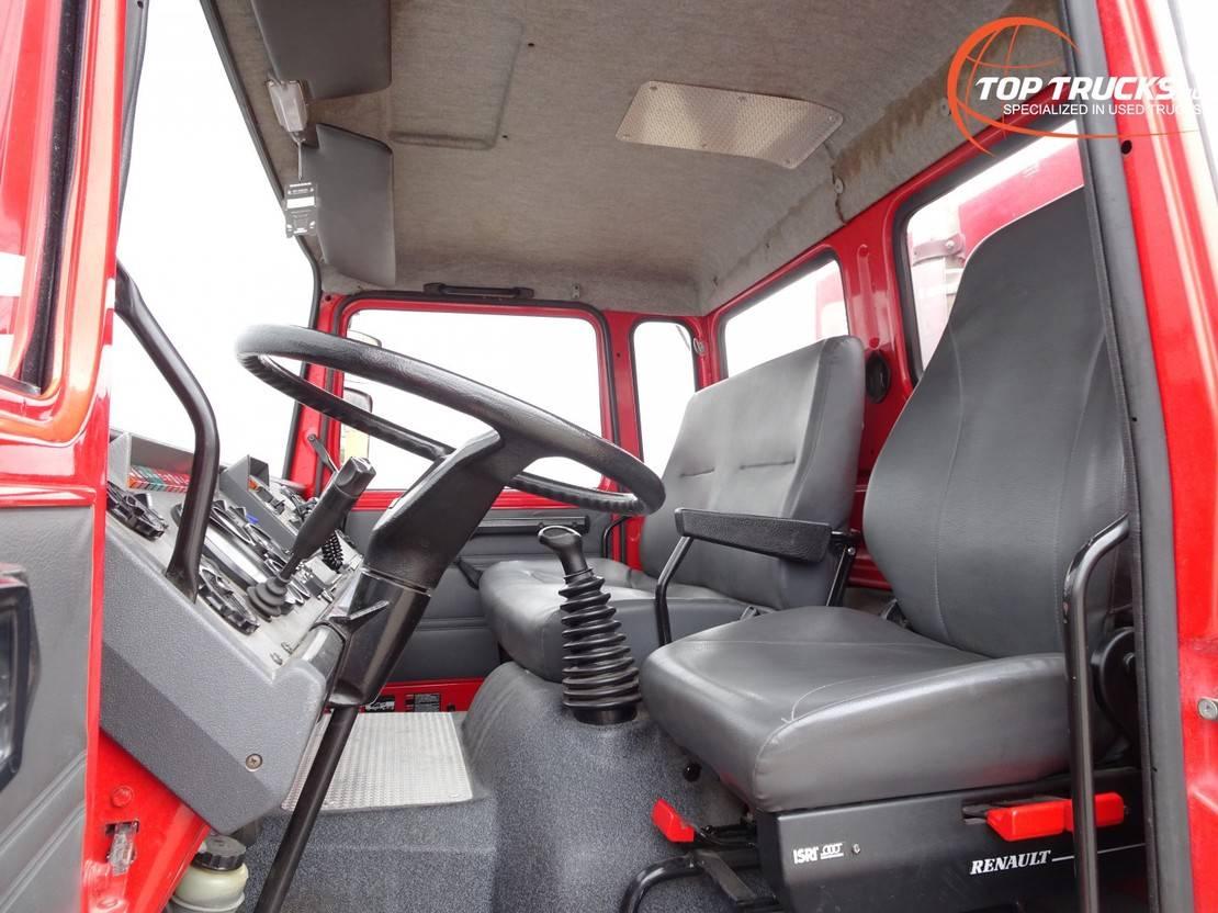 brandweerwagen vrachtwagen Renault 8 5 150 4x4 feuerwehr - fire brigade - brandweer - 2.500ltr tank- pomp 1994