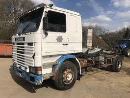 containersysteem vrachtwagen Scania 142M V8 **FRENCH TRUCK-FULL STEEL** 1982