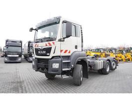 chassis cabine vrachtwagen MAN TGS 28.500 , E6 , 60.000km , 6X4X4 , chassis 5,8m , PTO , retard 2019