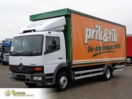 huifzeil vrachtwagen Mercedes-Benz Atego 1518 + Manual + Electric sail + Dhollandia Lift 2001