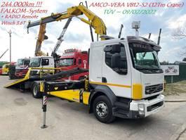 autotransporter vrachtwagen Volvo FL 240 RECOVERY TRUCK + Crane 12Tm + WINCH - *244.000km* ORIGINAL - TOP ZUSTAND 2007